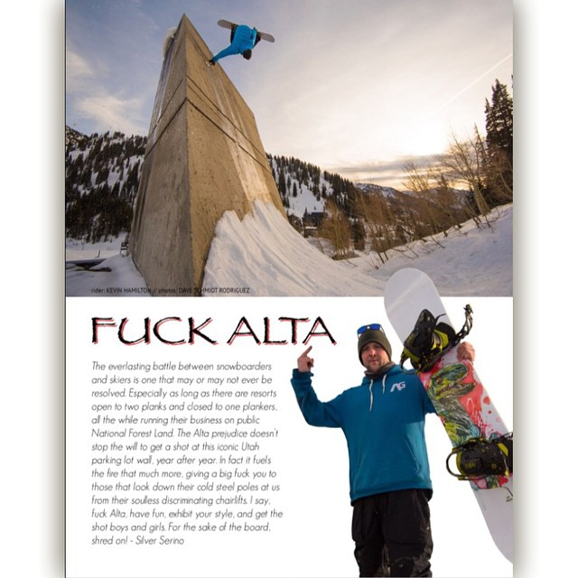 @kevinjhamilton plants one on the infamous Alta wall in our…