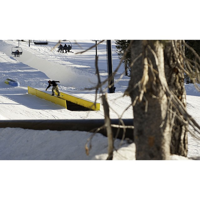 Rumors are true. @borealmtn // @woodwardtahoe will be opening this Friday.  Early season front board of @timhumphreys from a few years back. ?: @kyle_beckmann