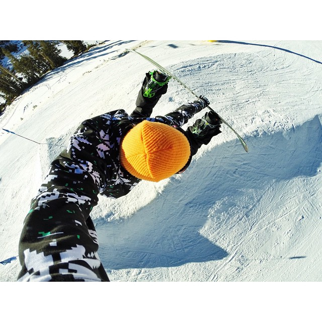 @mammothunbound is opening tomorrow and we highly suggest you head down there if you can.  Selfie from @timhumphreys at last years opening day.  @gopro @neffheadwear @flowsnowboardn