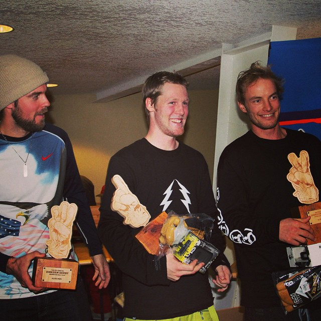 Had a great time at @mtbachelor this weekend for the #dirksenderby8. Congrats to Harry Kearney for taking the Elites win for the second year in a row and to Austin Smith and Alex Deibold for taking down second and third. @harry_kearney @wedrinkwater @adeibold