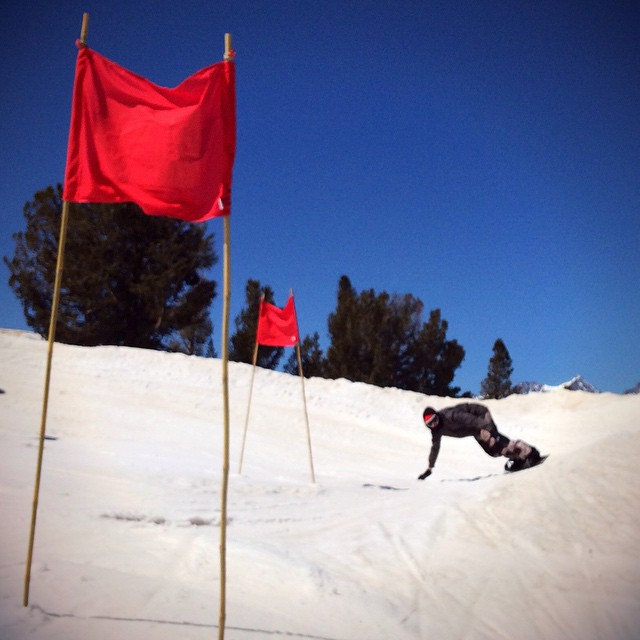Practice runs went down for the JLA banked slalom today…